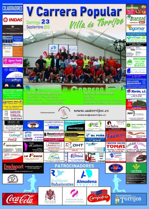 Cartel V Carrera Popular Villa de Torrijos 2012