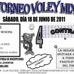 Cartel IV Torneo Voley Mixto 2011