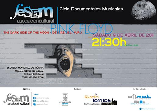 Cartel Documentales FESEM - Pink Floyd - Torrijos Abril 2011