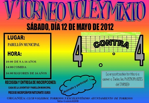 Torneo Volley Mixto - mayo 2012