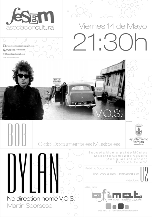 Cartel Docu Fesem - Bob Dylan No direction home